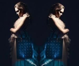 Grimm reklaampildistamisel. Kadri Kruus leather accessories, Modell - Merlin Luur, Foto - Oliver Moosus, Stiil - Maarja Siim, Grimm - Edith Eller